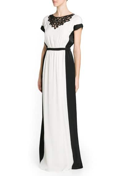 Monochrome long dress