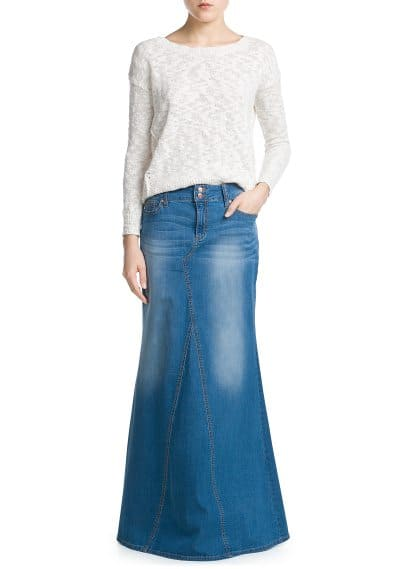 Medium denim rok