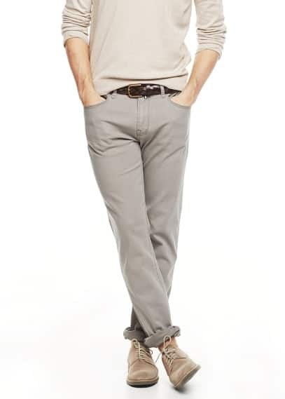 Pantalon slim-fit 5P coton