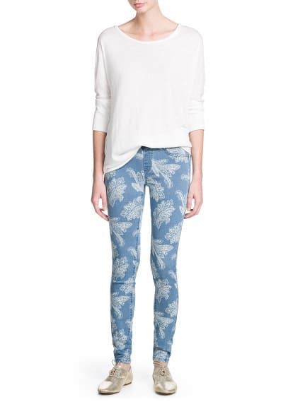 Jeggings estampados lavado medio