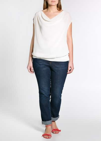 Draped chiffon top