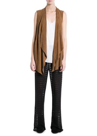 Waterfall suede gilet