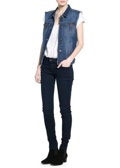 Dark denim gilet
