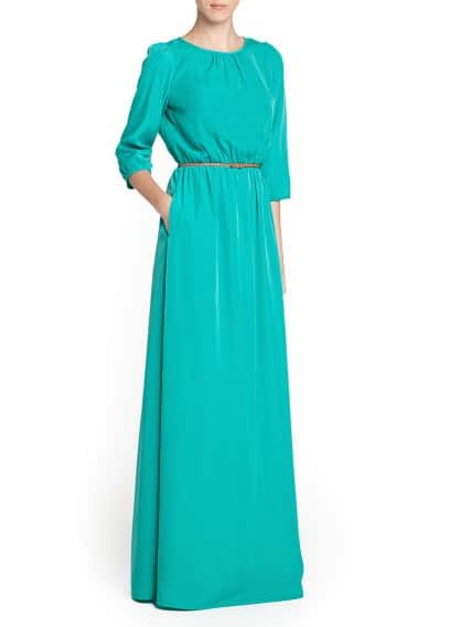Braided belt long dress