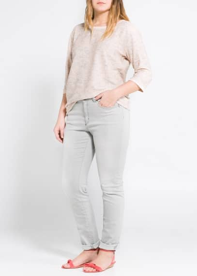 Bow metallic sweater
