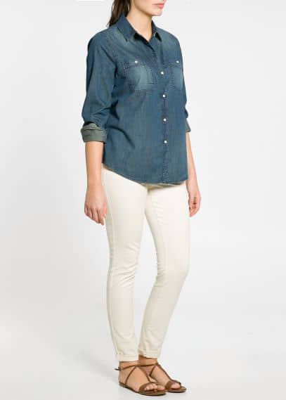 Camicia denim scuro