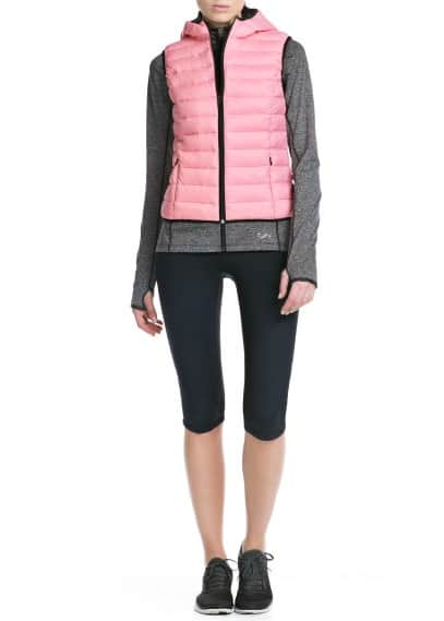 Fitness & Running - Hooded outdoor gilet