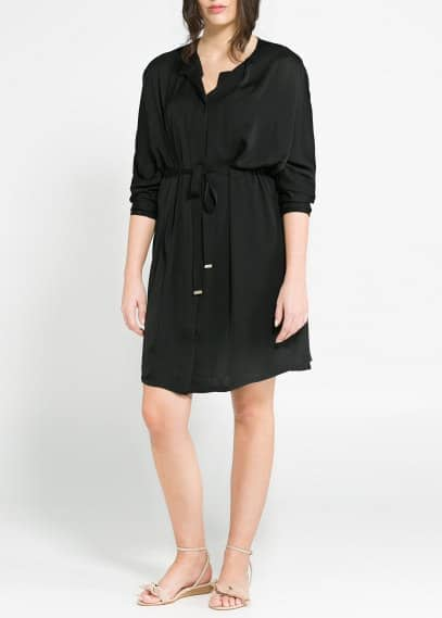 Grosgrain satin dress