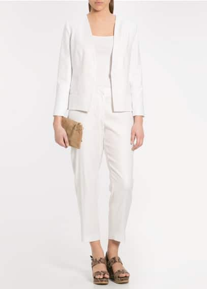 Trim linen trousers