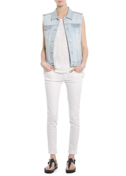 Gilet denim bleach