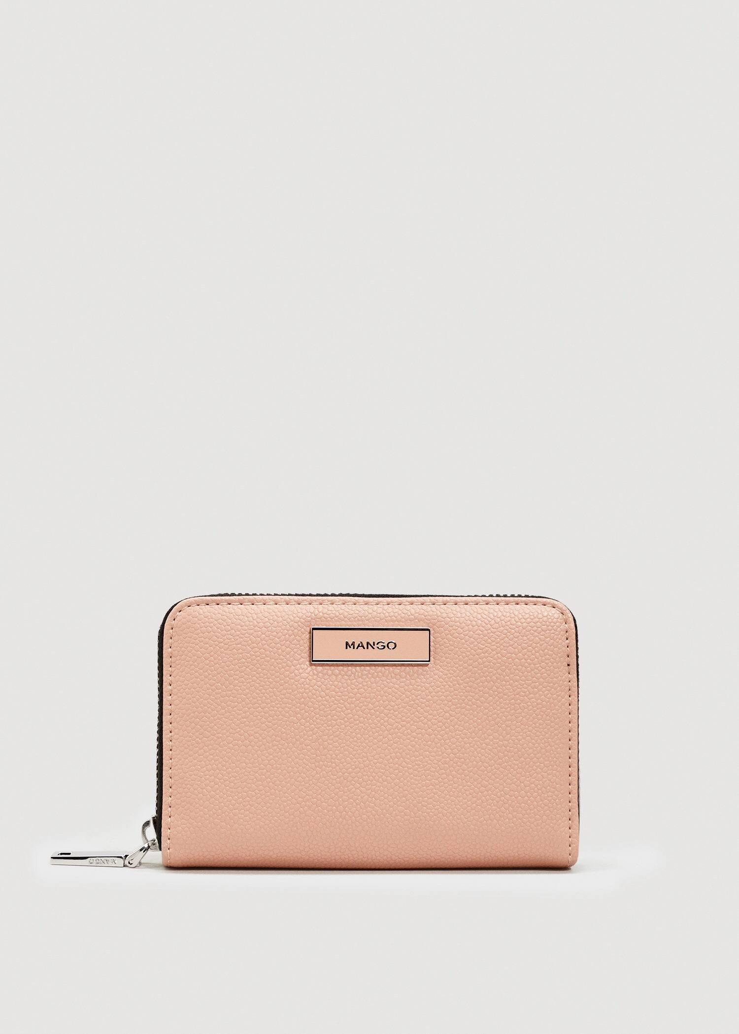 Zip pebbled wallet