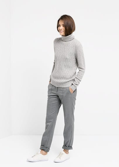 Wool straight-fit trousers