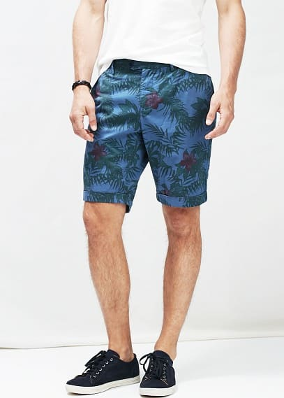 Tropical print bermuda shorts