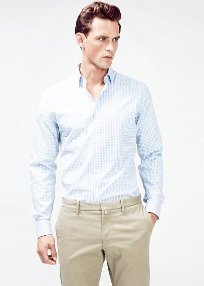Camisa Tailored slim-fit cuadro vichy