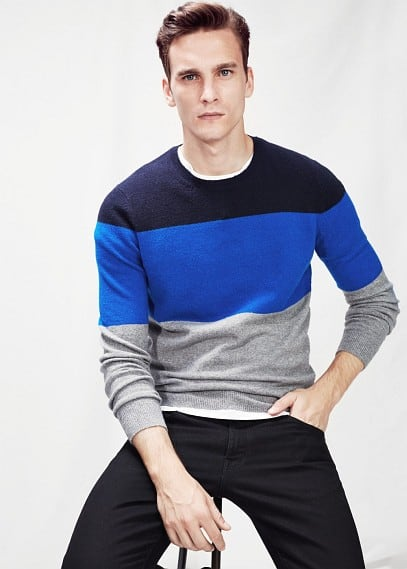 Tricolor wool-blend sweater