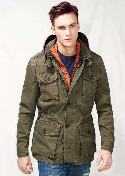 Detachable gilet parka