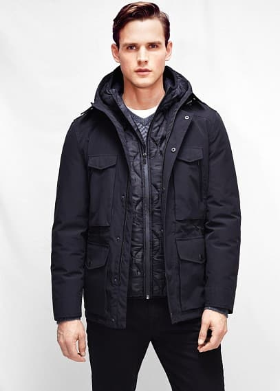 Inner jacket waterproof parka