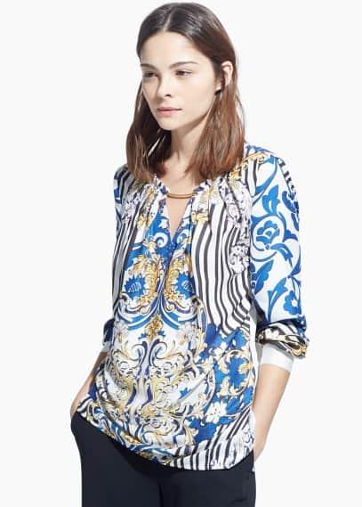 Baroque print blouse   MANGO
