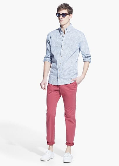 Camisa slim estampat liberty