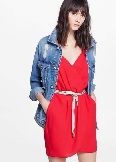 Belt wrap dress | MANGO