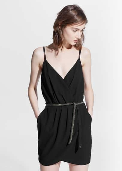 Belt wrap dress | MANGO