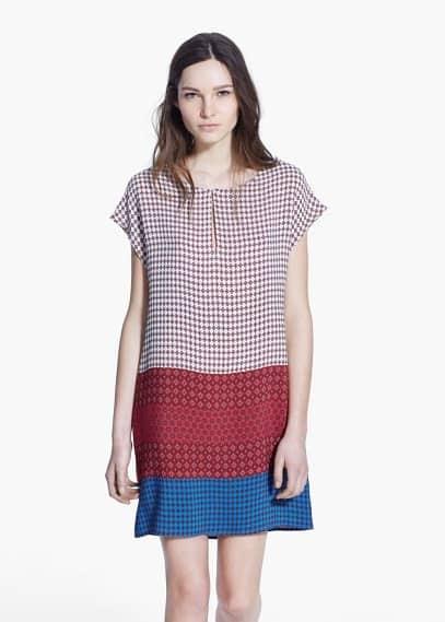 Bedrucktes, fließendes kleid | MANGO