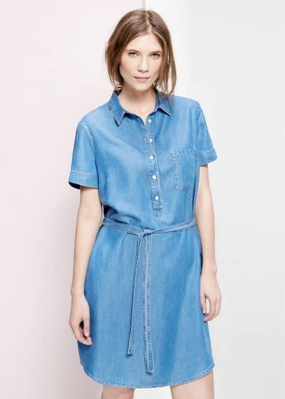 Φόρεμα πουκάμισο ντένιμ | MANGO