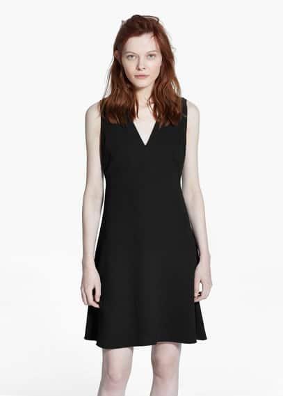 Kleid mit v-ausschnitt | MANGO