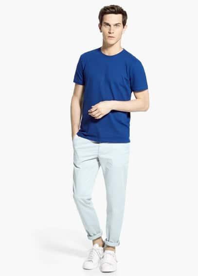 T-shirt básica algodão   MANGO MAN