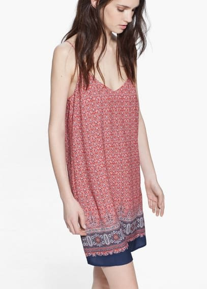 Cotton printed dress | MANGO
