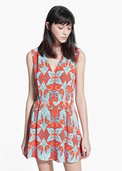 Paisley print dress | MANGO