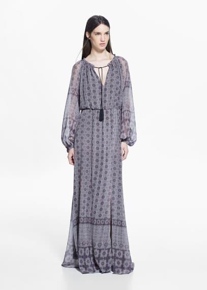Printed long dress | MANGO