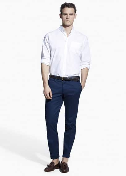 Chino tailored slim-fit algodón | MANGO MAN