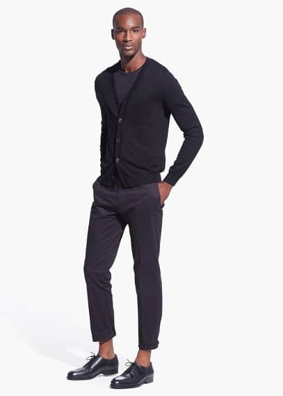 Slim Fit Tailored-Chinohose