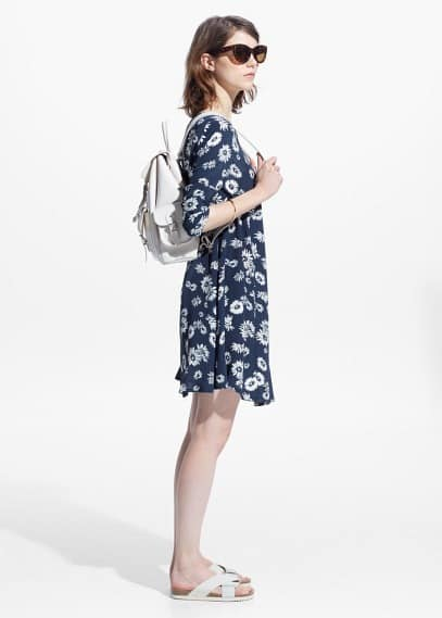 Printed flared dress | MANGO