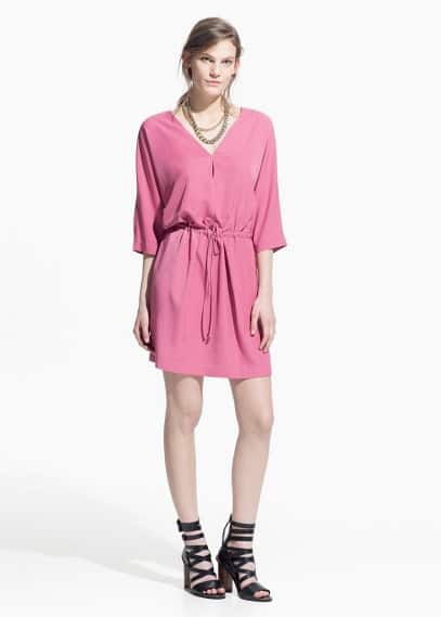 Drawstring waist dress | MANGO