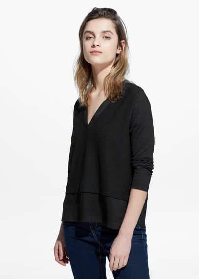 Strukturiertes shirt   MANGO