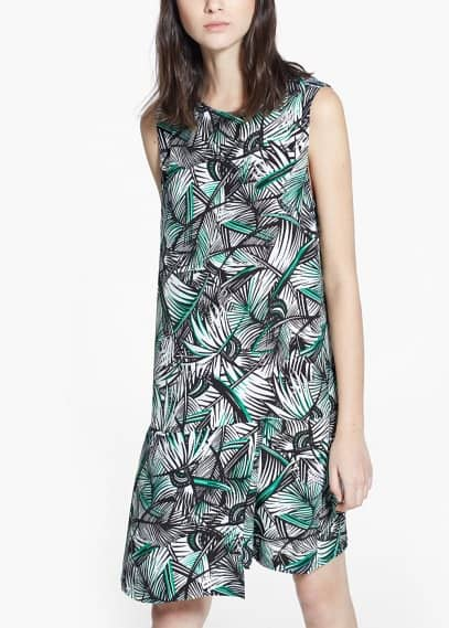 Pleat printed dress | MANGO