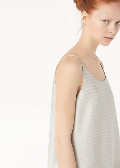Premium - geometric pattern top | MANGO