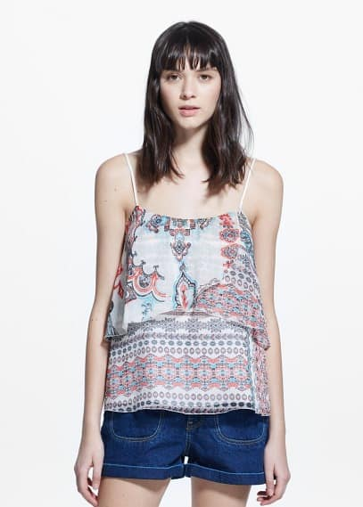 Top -- printed | MANGO
