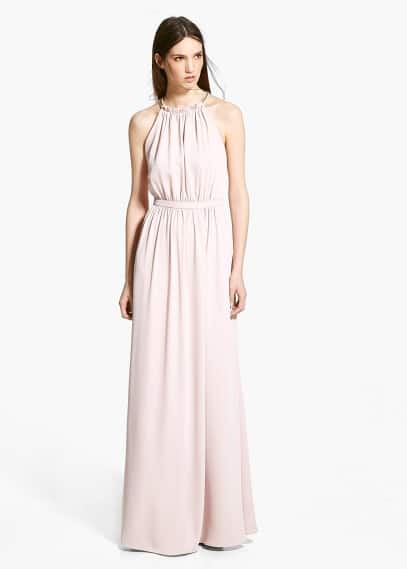 Online exclusive - chain halter gown | MANGO
