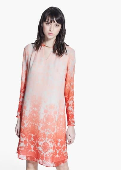 Printed chiffon dress | MANGO