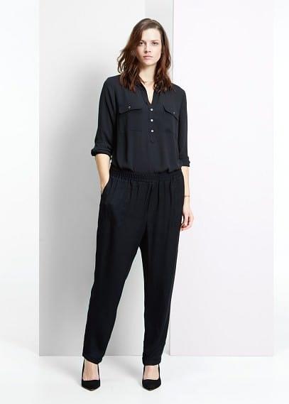 Kalhoty se saténovým vzorem | VIOLETA BY MANGO