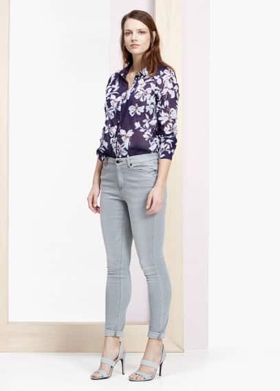 Bluse mit blumenaufdruck | VIOLETA BY MANGO