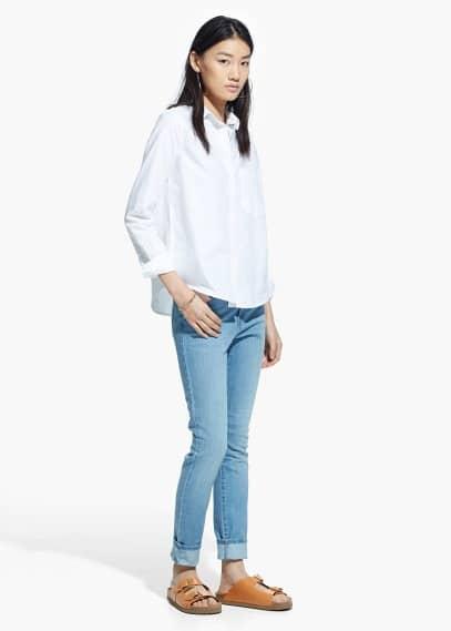 Camisa algodón bolsillo | MANGO
