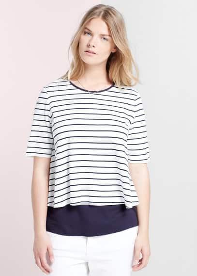 Double layer t-shirt | MANGO