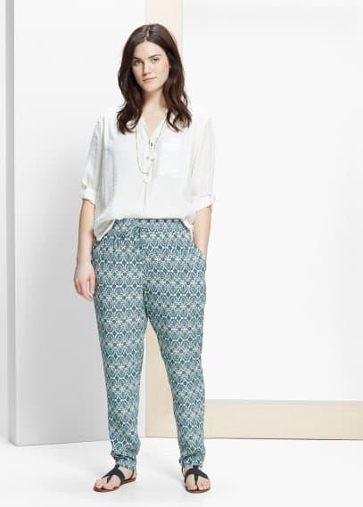 Kalhoty s potiskem | VIOLETA BY MANGO