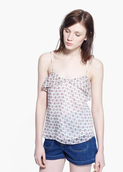 Printed strap top | MANGO