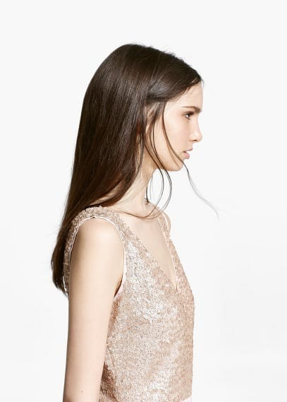 Online exclusive - sequined dress | MANGO