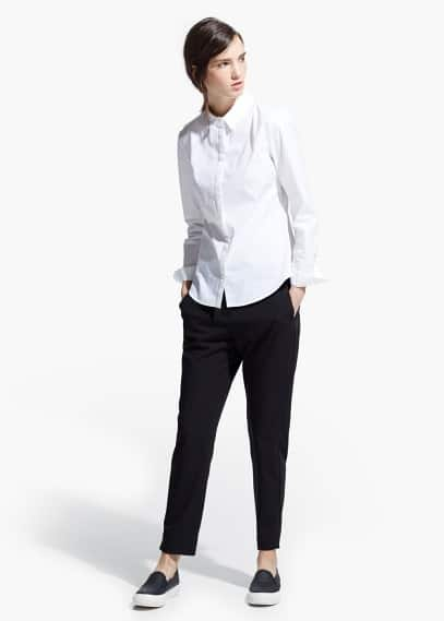 Camicia avvitata cotone | MANGO